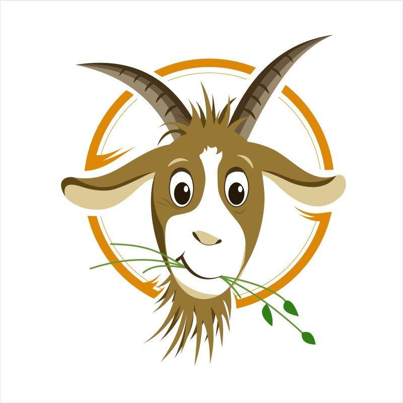 Cute Fun Head Of Goat Illustration Digital Card Printable Vector Instant Download Vector Art Eps Jpg Digital Images Il014 Goat Logo Goat Paintings Vector Art