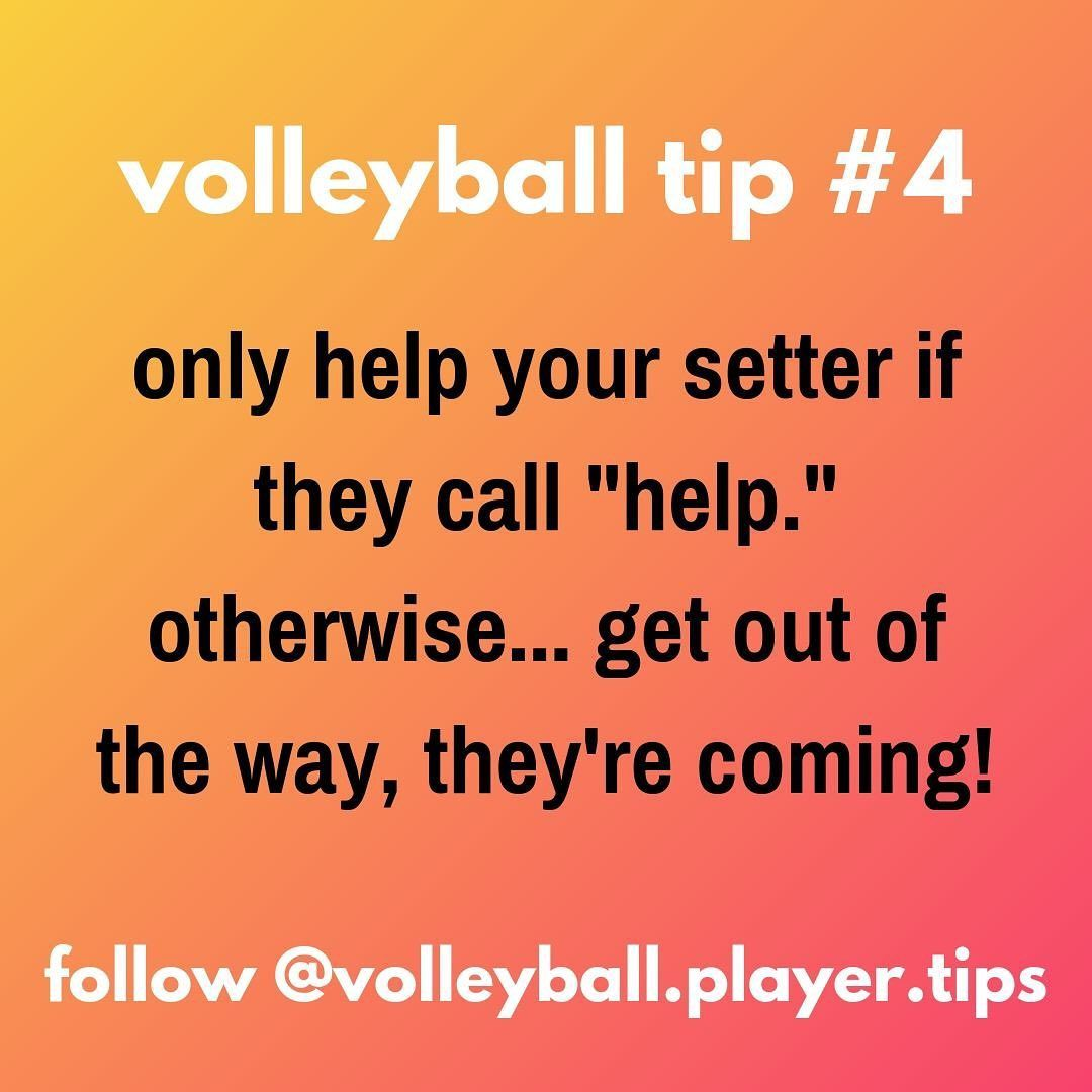 Volleyball Player Tips On Instagram Don T Get Run Over They Re Looking Up At The Ball Inspirational Volleyball Quotes Coaching Volleyball Volleyball Tryouts