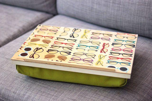 How To Make A Pillow Lap Desk Ehow Lap Desk Diy Diy Laptop Lap Desk For Kids