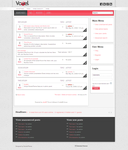 Voxel Phpbb3 Style Forum Theme Phpbb Style Templates Style
