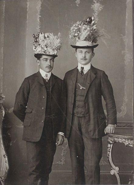 Late 19th century male couple with flower ha… | La Belle ...