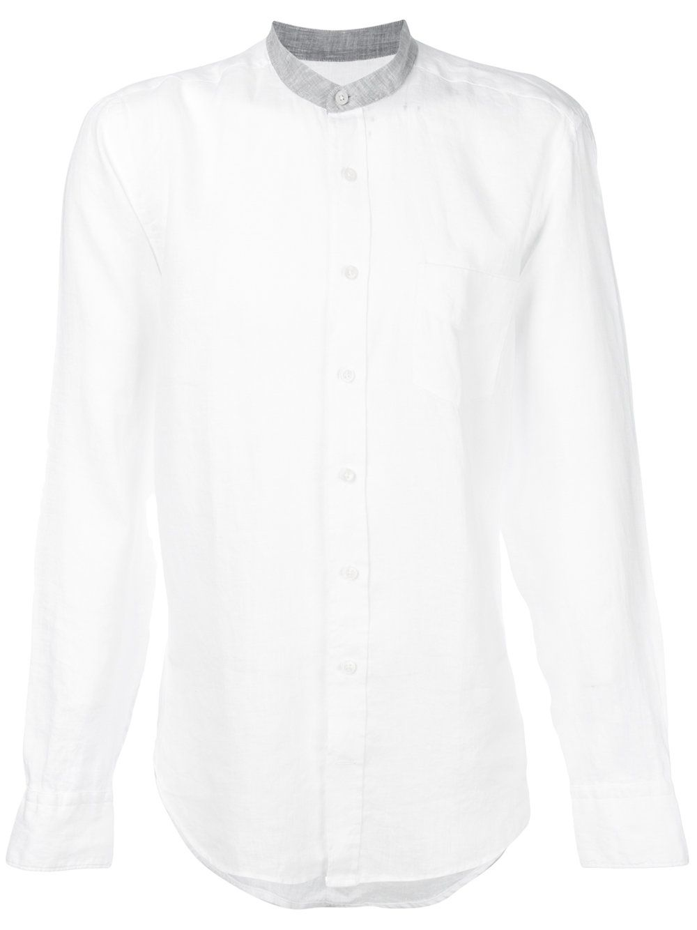 136a596910d2 Hackett Band Collar Shirt - White in 2018