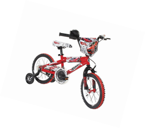 A Dynacraft Boys 14 Inch Hot Wheels Bike Redwhiteblack