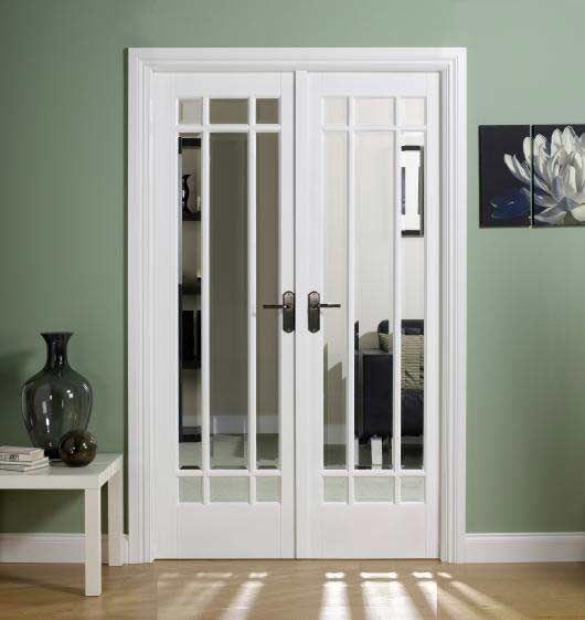 White Double Doors   Glazed