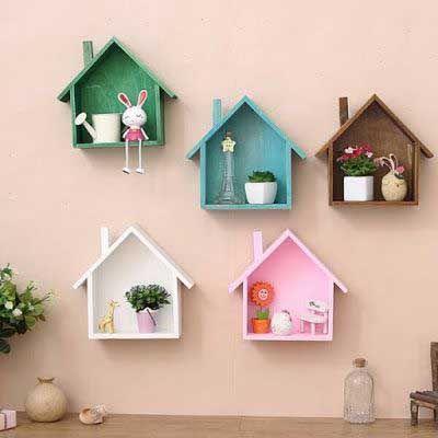Çocuk Odası Duvar Rafları Örnekleri ve Modelleri