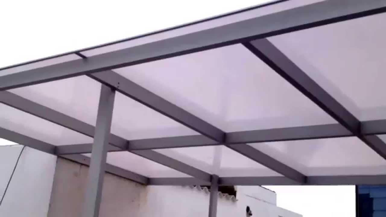 Techo de policarbonato fijo de corp roman bricolaje for Techo policarbonato transparente