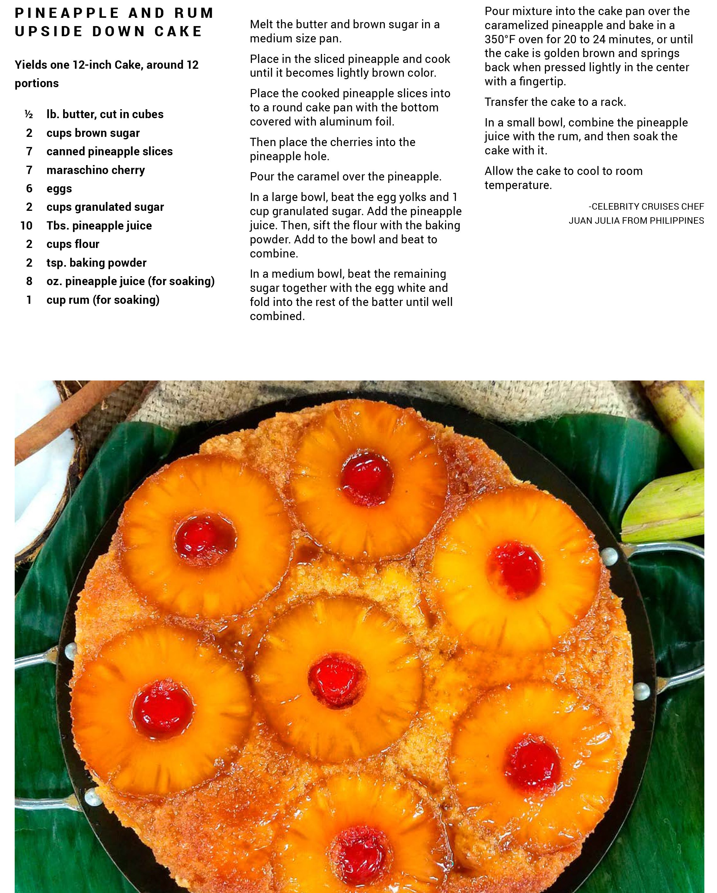 A Classic Rum Cake With A Twist, This Pineapple Upside