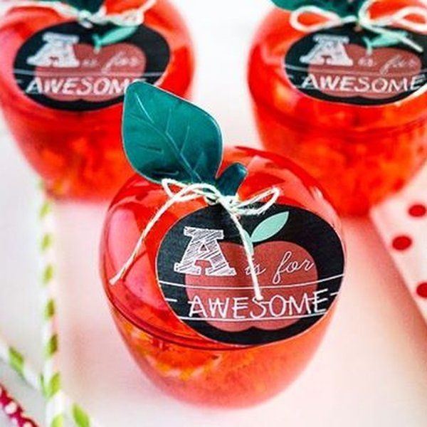 Red Apple Favor Containers Apple Gifts Appreciation Gifts