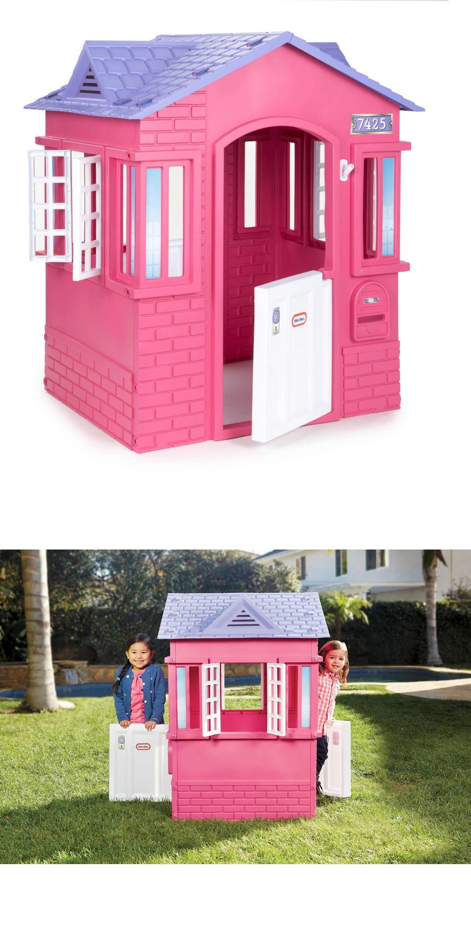 Permanent Playhouses 145995 Little Tikes Princess Cottage Playhouse Pink Kids Play Toy Authentic Fast Ship It Now Only 105 99 On Ebay