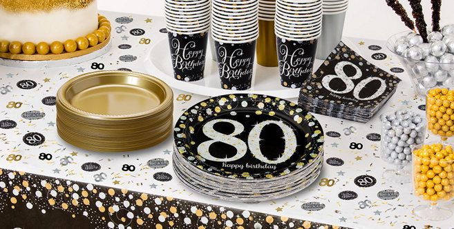 Sparkling Celebration 80th Birthday Party Supplies
