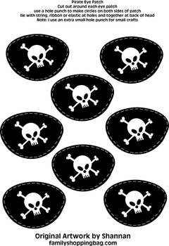 Eye Patches, Pirate, Party Decorations - Free Printable ...