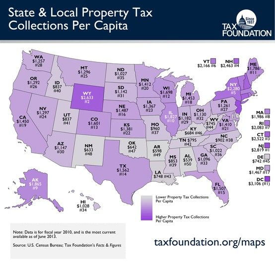 Monday Map State Local Property Tax Collections Per Capita