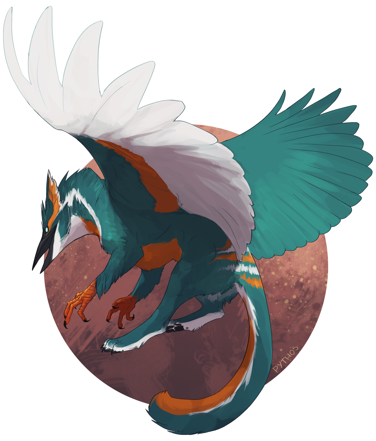 Commission for Kingfisher-Gryphon on dA!