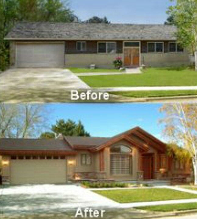 Exterior Before And After Ranch House Remodel Exterior House