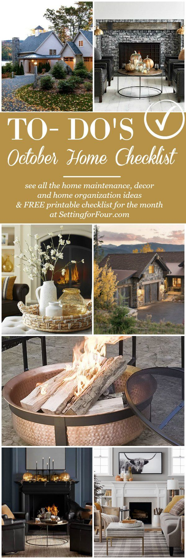 October Home Checklist Home Improvement Fall Home Ideas Autumn Home French Home Decor Home Improvement Projects