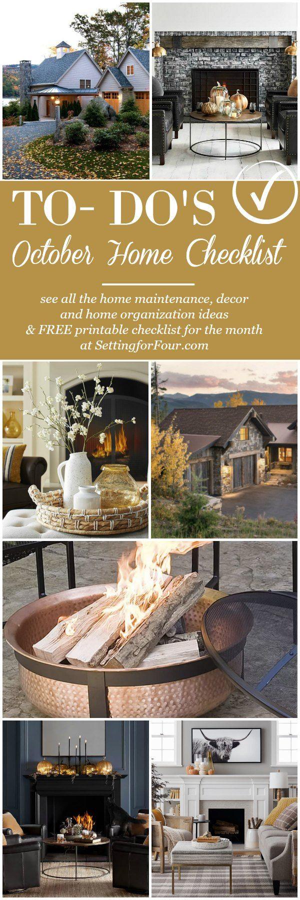 October home checklist home improvement u fall home ideas