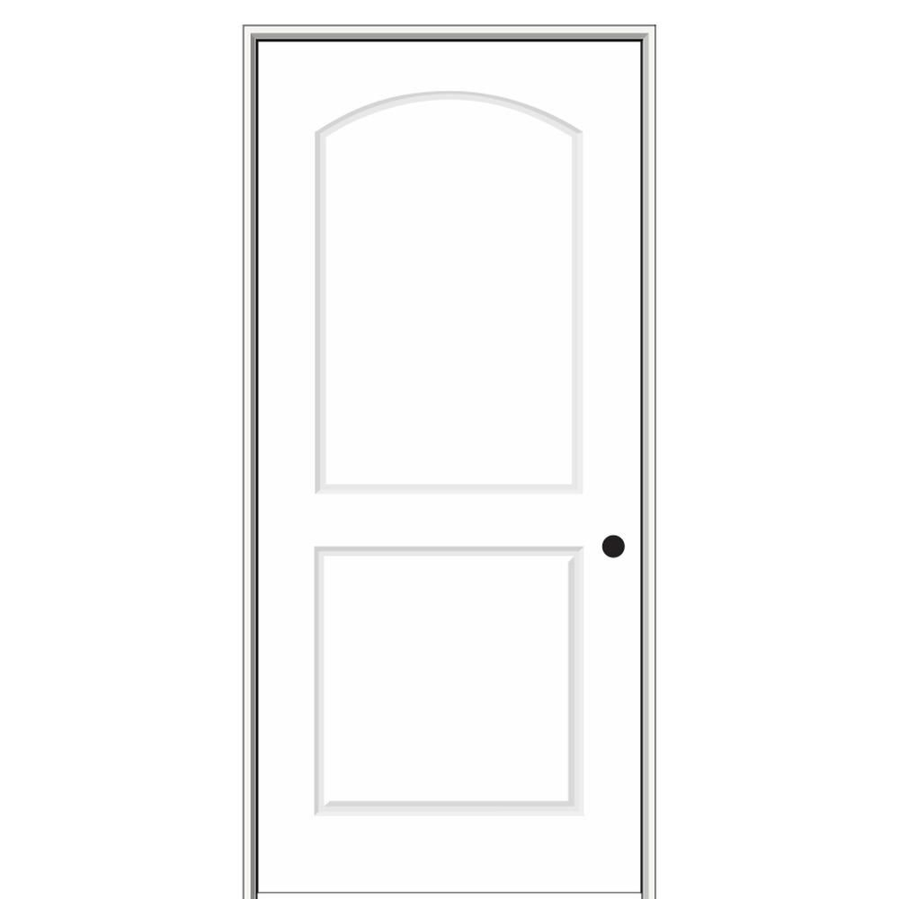 Mmi Door 28 In X 80 In Smooth Caiman Left Hand Solid Core Primed Molded Composite Single Prehung Interior Door Z0364267l Prehung Interior Doors Prehung Interior French Doors House Design