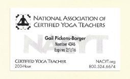 National Association Of Certified Yoga Teachers Certified Yoga Teacher Gail Pickens Barger Nederland Beaumo Teaching Yoga Private Yoga Class Yoga Teachers