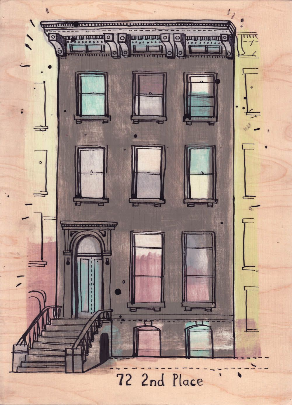 All the Buildings—72 2nd Place New york drawing, New