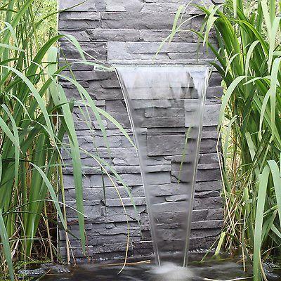 Attraktiv Wasserfall Für Den Garten Teich Gartenteich Zum Selber Bauen Wasserspiel LED