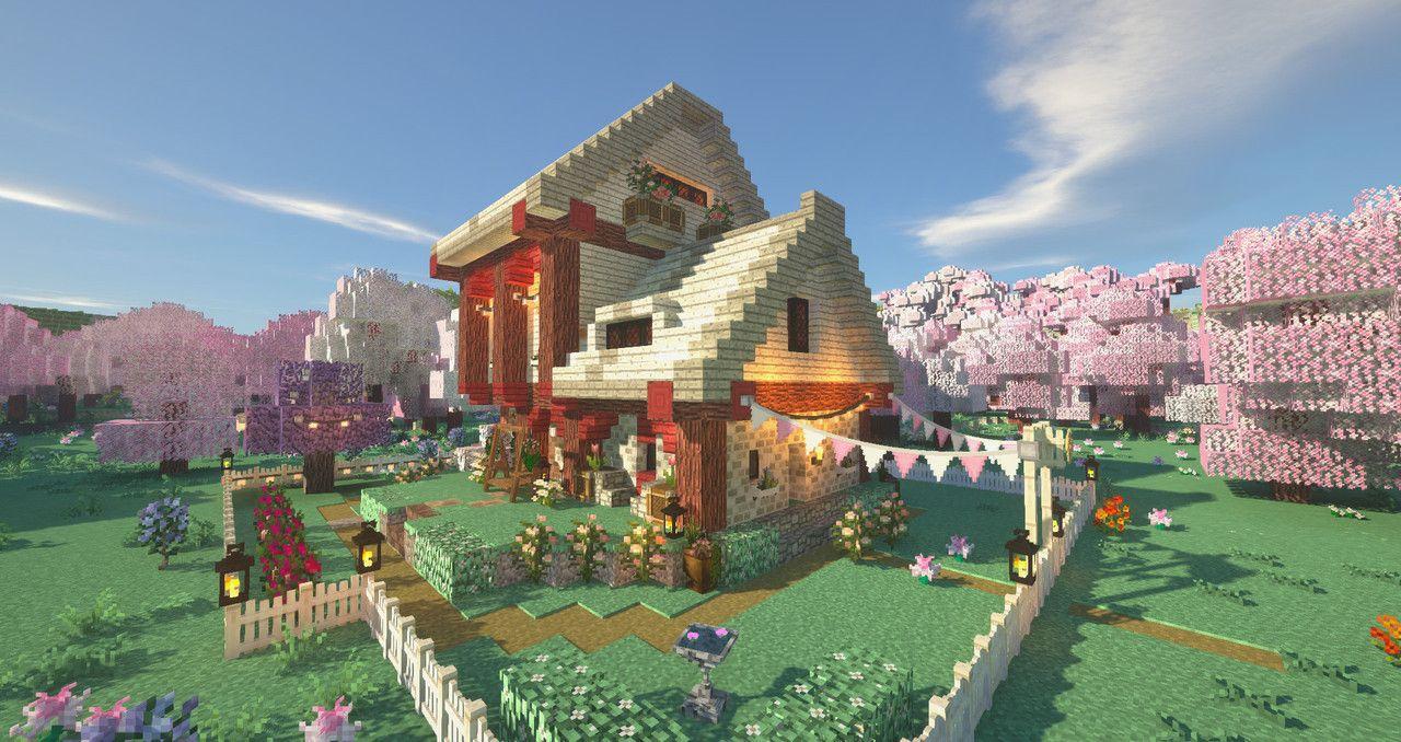 Toxic Lustre Minecraft Cottage Minecraft Houses Minecraft Blueprints