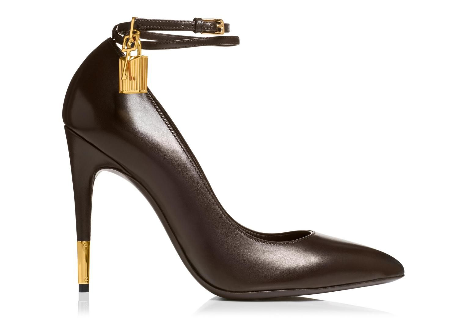 Hand-polished Calfskin Pump with Ankle Strap and Lock | Shop Tom Ford Online Store