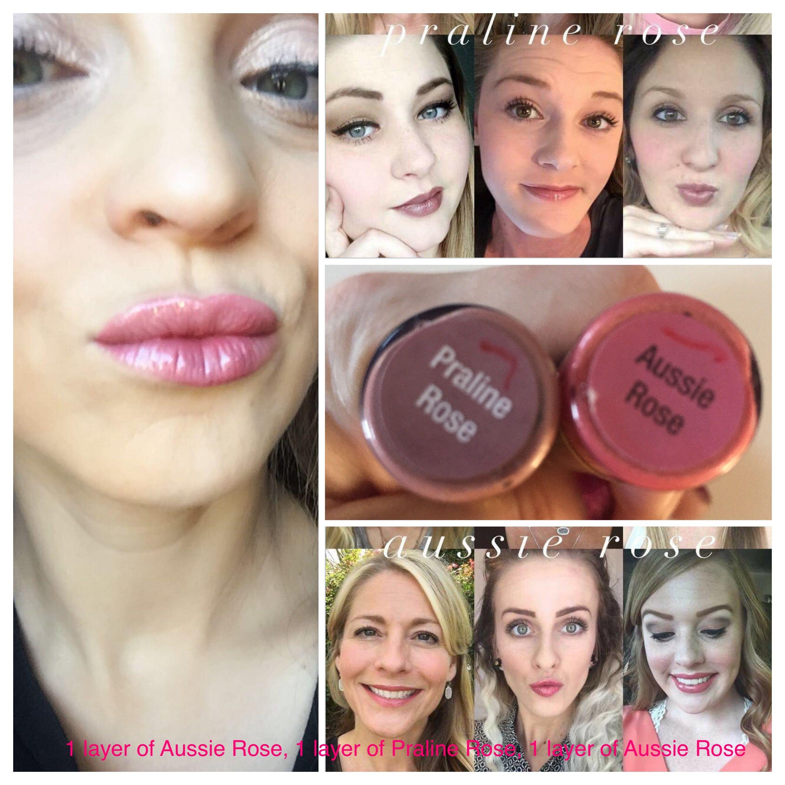 Rose Gold Lipsense Lip Gloss Hairstyle