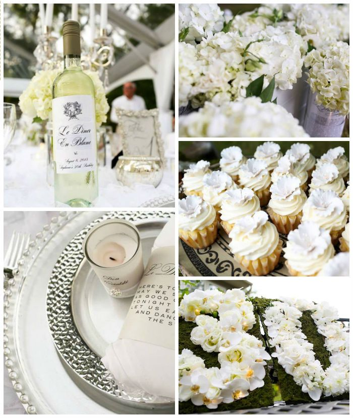 Elegant White Outdoor Dinner Party via Karas Party Ideas