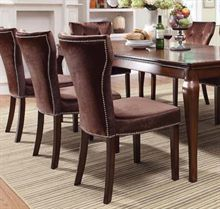 Kingston Brown Cherry Finish 5 Piece Set Of Diningtable 6 Side