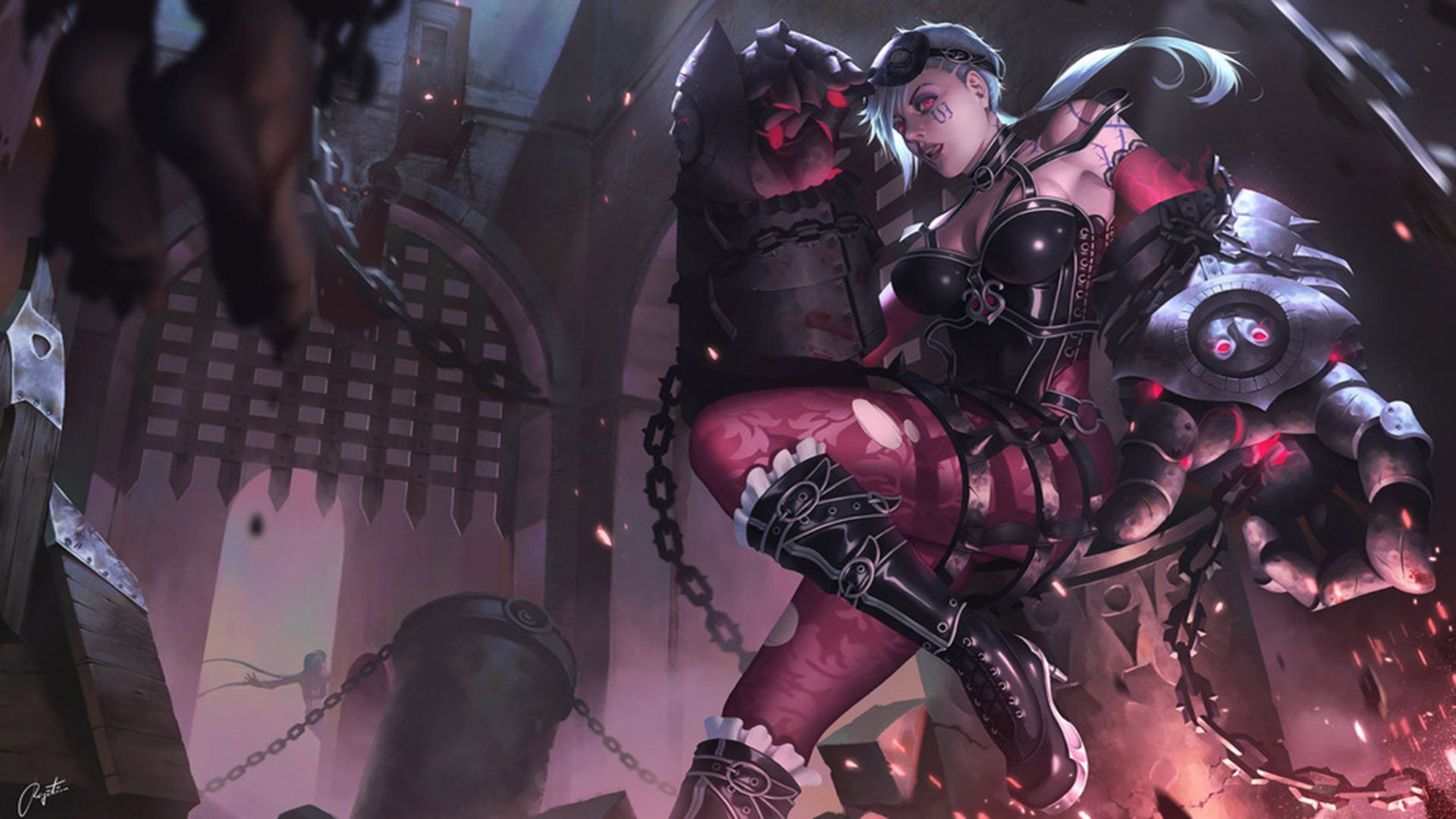 Gothic Vi Wallpaper Hd 1920x1080 League Of Legends Wallpapers Art Of Lol Vi League Of Legends Jinx League Of Legends Lol League Of Legends