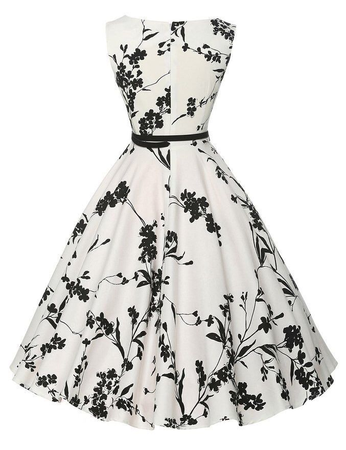 a235c7c86b Audrey Hepburn Vestidos S-2XL Plus Size Women Floral Print Party ...