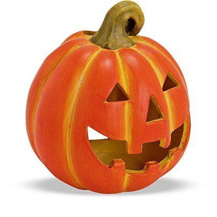 Tolle Herbstdeko Kürbis Windlicht Herbst Dekoration Halloween Türkürbis aus Ton 19x21 cm