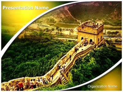 Great Wall Of China Powerpoint Template Is One Of The Best