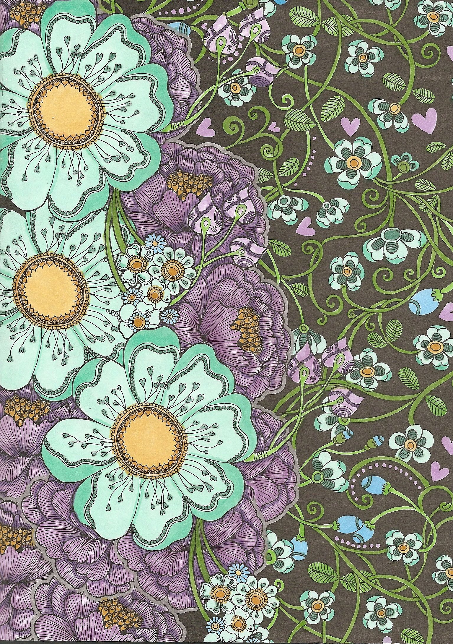 Creative Inspirations Fabulous Flowers Coloured With Copic Markers