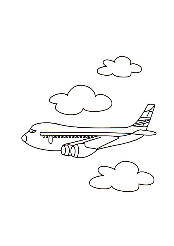 Jumbo Jet Colouring Pages | The Coloring pages | Pinterest