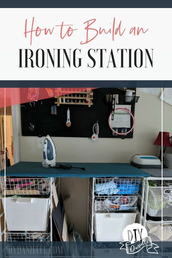 How to Make an Ironing Station for Sewing  DIY Danielle How to make an ironing station for your sewing room