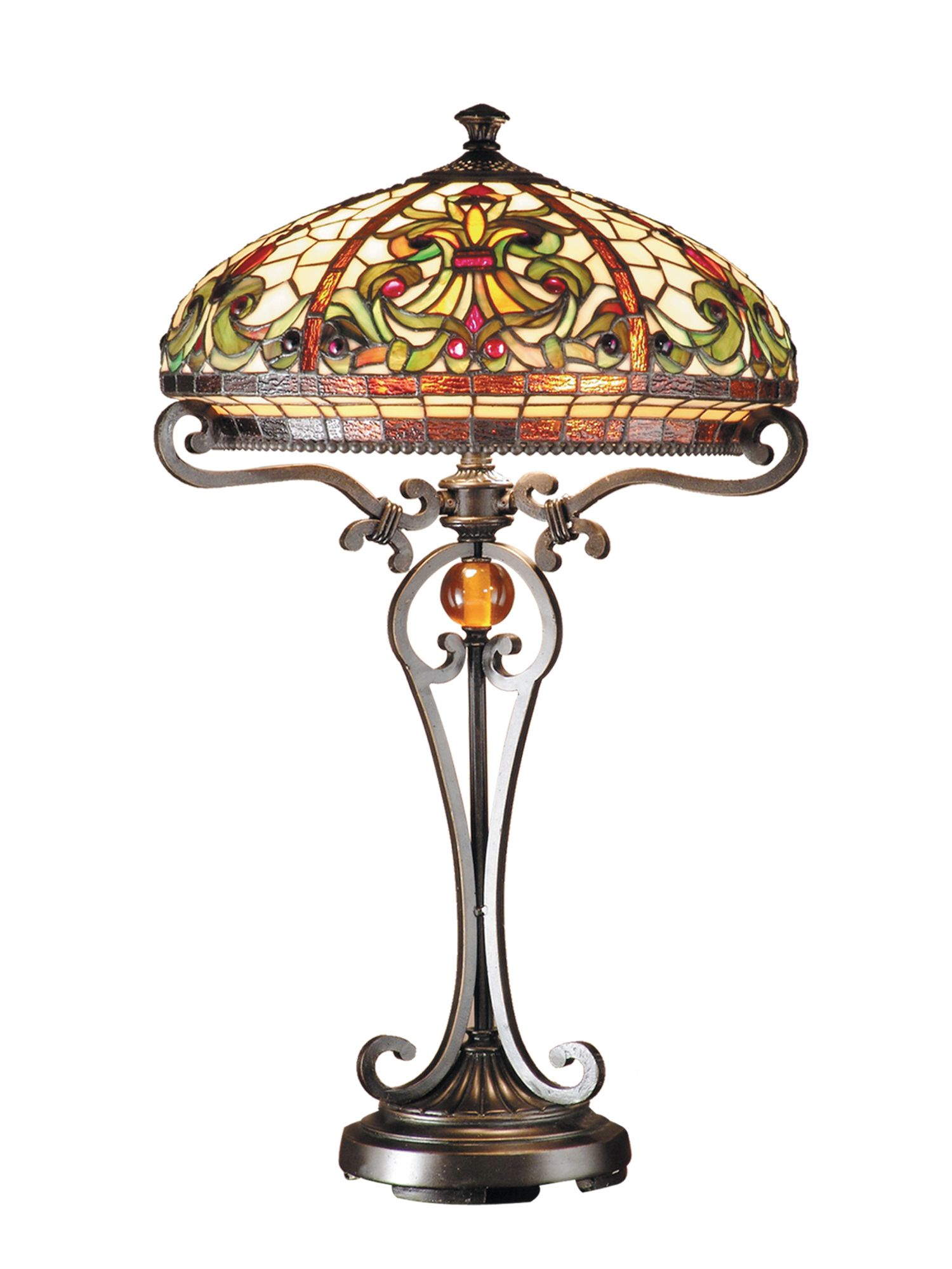 Dale Tiffany Antiques Roadshow Boehme Series Tiffany Table Lamp Stained Glass Table Lamps Tiffany Table Lamps Antique Lamp Shades