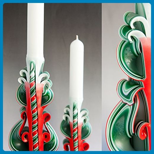 Beautiful Decorative taper carved candle for gifts for her, unusual housewarming and wedding unity ceremony from Primacandle - Wedding candles and holders (*Amazon Partner-Link)