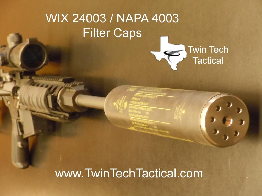Wix 24003 Napa 4003 Solvent Trap Adapters Weaponry Ammo Cans