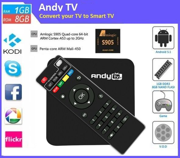 By using Andy TV box you can watch incredible and enjoyable things