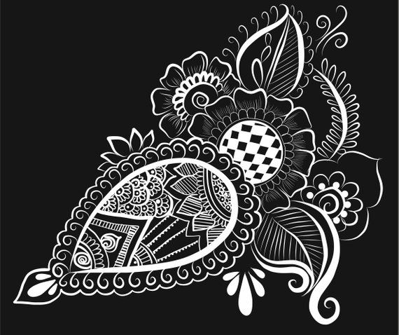 Pin By Etsy On Products Vector Art Henna Art