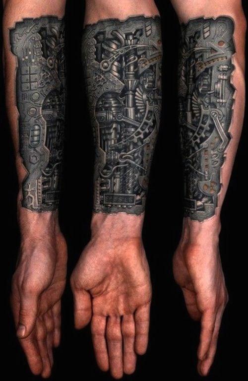 ces 32 tatouages biomécaniques sont géniaux ! | tattoos