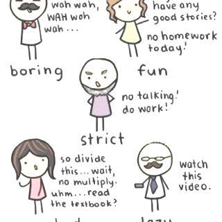 Teachers what teacher did you have?;)