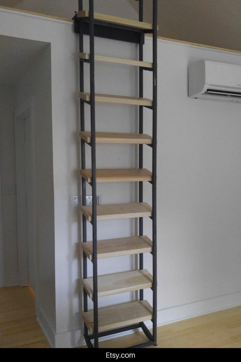 9 Foot Retractable Loft Ladder Etsy In 2020 Loft Ladder Loft Stairs Stairs Design