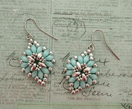 Cute & Easy Earrings - Aqua & Silver