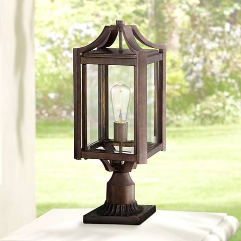Rockford Collection 20 1 4 High Bronze Outdoor Post Light V5569 Lamps Plus In 2020 Outdoor Post Lights Post Lights Lamp Post Lights