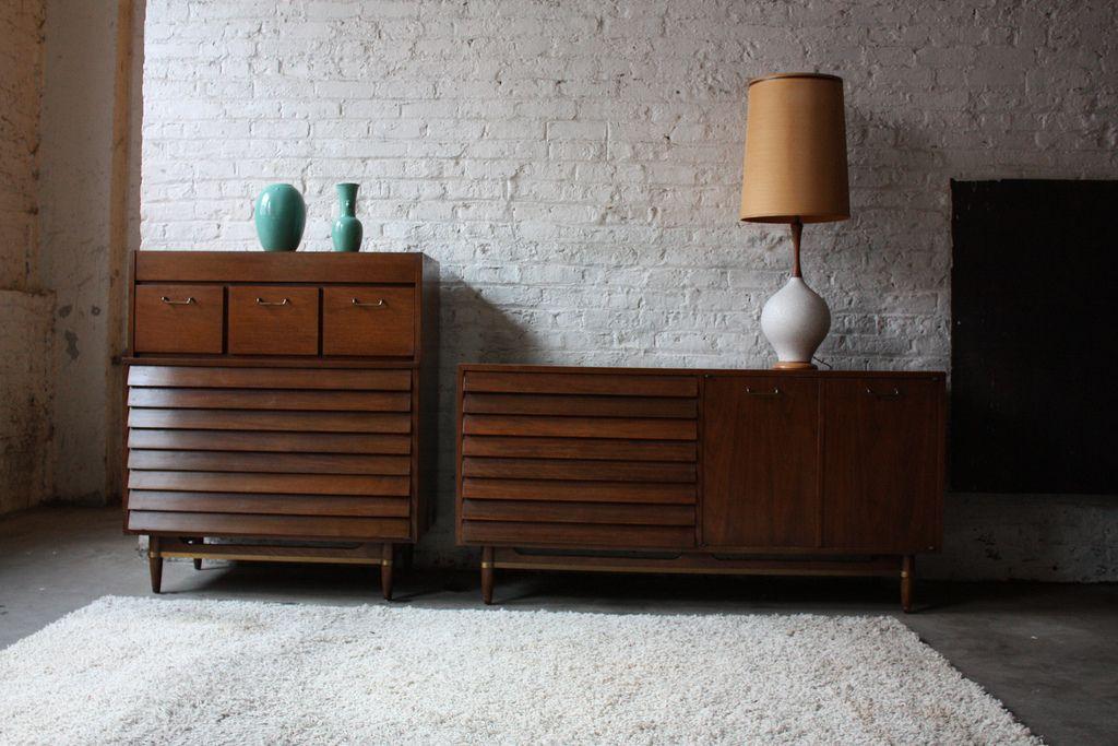 Bedroom Vintage Mid Century Modern Set Regarding The Most Amazing