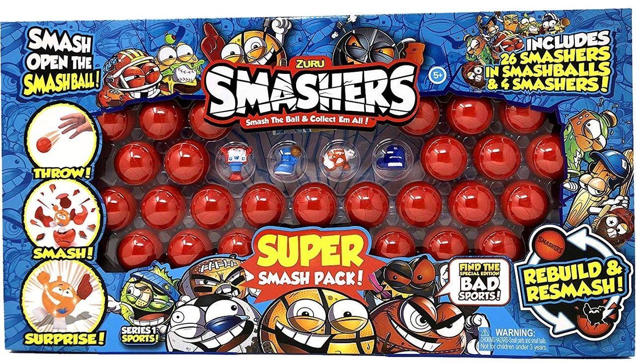 BUS NEW 2018 IN Hand SMASHERS Zuru Smashballs SPORTS 8 Pack