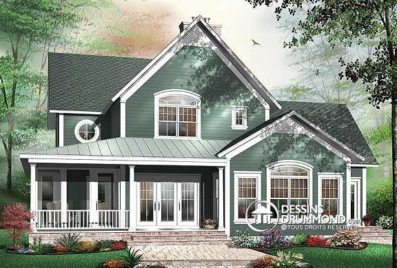 W3926 chalet ou maison champ tre 4 chambres chambre for Modele maison champetre