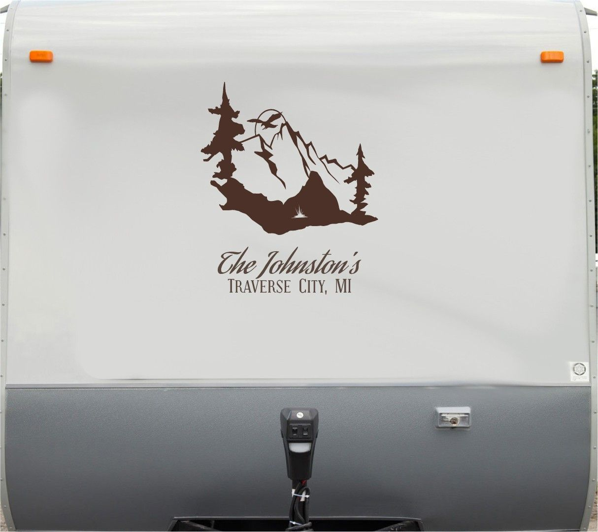 Eagle Mountains RV Camper Th Wheel Motorhome Vinyl Decal Sticker - Custom rv vinyl decals